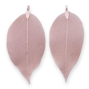 2pcs real leaf,Botanical jewel