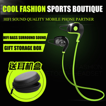 Amoi A1 Bluetooth Headset Wireless Sport Stereo Music Bluetooth Earphone 4.1 With Mic Noise Cancelling for Mobile iPhone