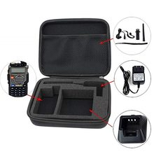 Portable Radio Case Walkie Talkie Hand Bag For BAOFENG UV-5 Launched Hunting Case Black And Camouflage(China)
