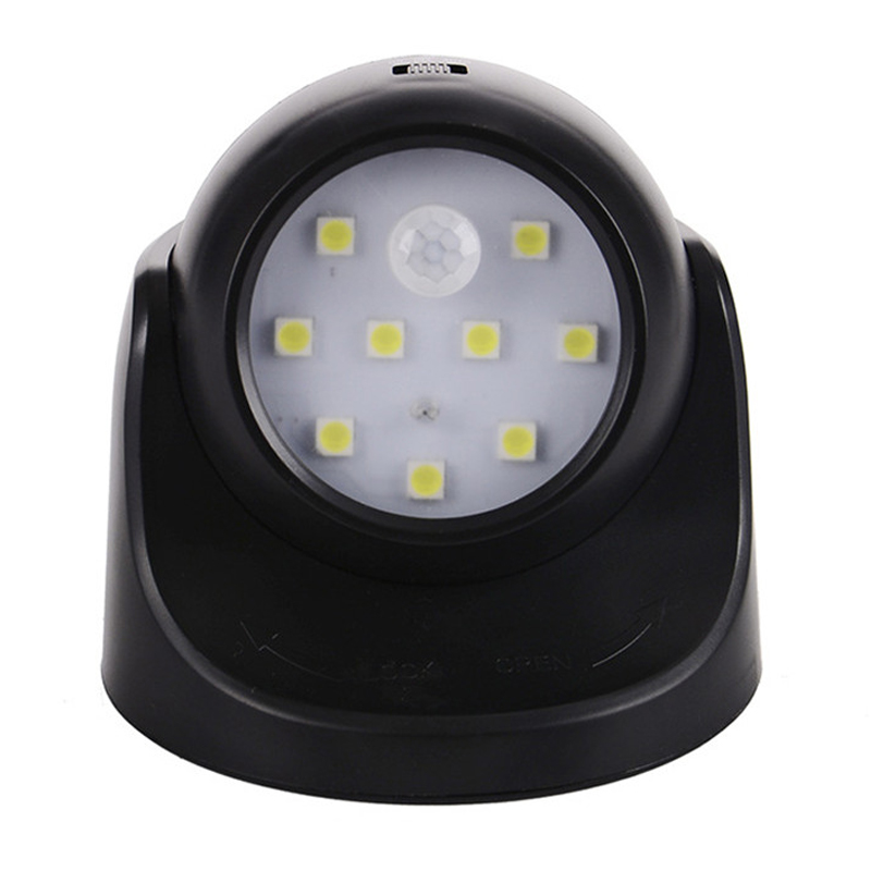 360 degree rotation light Sensor human body induction Led Night Light 9 Led Bulbs human sensor Light Controlled Led Night lamp александра треффер полигон зла фантастическая повесть
