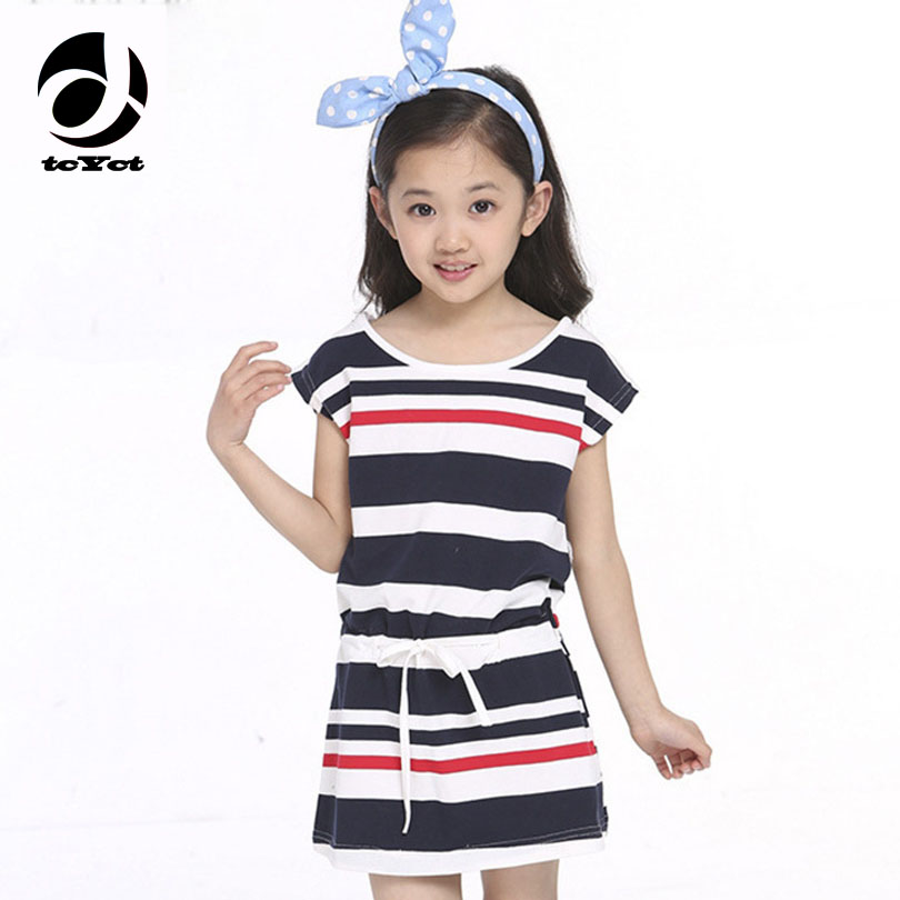 100% Cotton Striped Girls <font><b>Dress</b></font> Summer New Teenage Girls Clothing 2017 <font><b>Party</b></font> <font><b>Dresses</b></font> For Girls Of 4-10 11 12 <font><b>13</b></font> 14 <font><b>Years</b></font> <font><b>Old</b></font> image