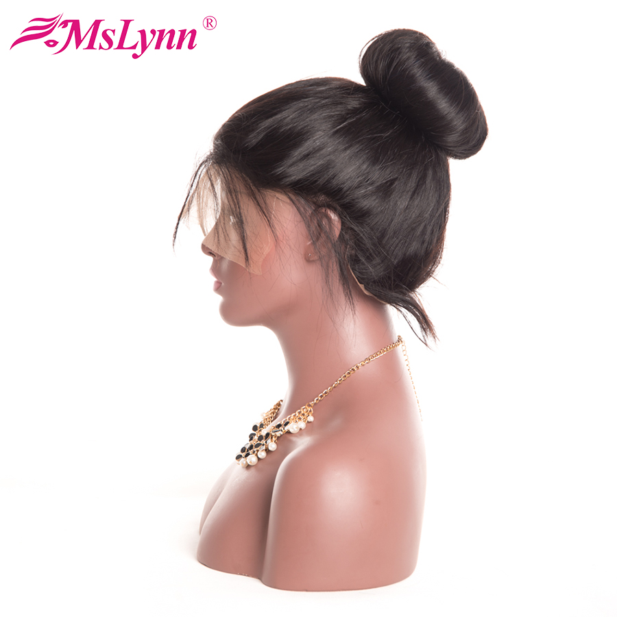 MsLynn Full Lace Human Hair Wigs With Baby Hair Natural Hairline Malaysian Straight Hair Wigs For Black Women Non-remy Hair
