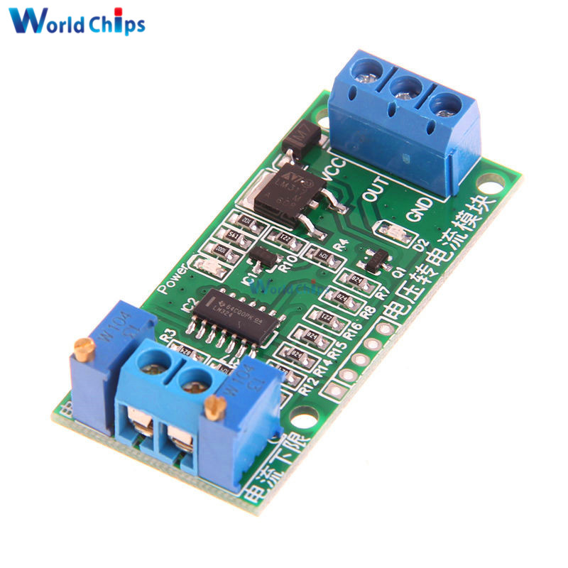 0-5V to 4-20mA DC 12V-24V Linear Conversion Voltage to Current Transmitter Signal Module Potentiometer Adjustable isolated