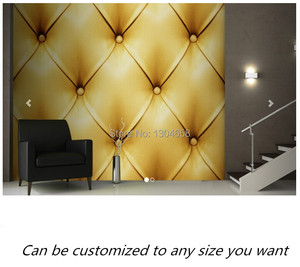 Free shipping custom- modern 3D wallpaper Golden Leather Wallpaper Mural wallpaper living room bedroom hallway walls