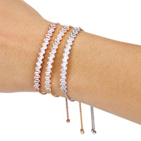 FREE DHL FEDEX 200 AAA Grade CZ Stone Bracelet With Copper Chains