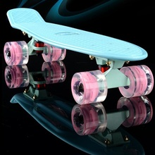 2017 mini Cruiser Skateboard LED light Four wheel Skate board adult&children small skateboarding peny Board banana Long Board