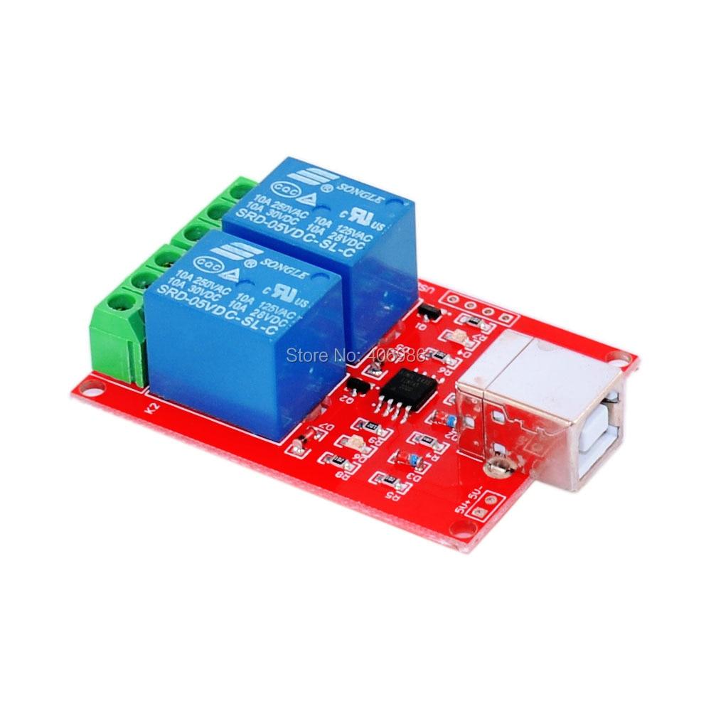 Pcs lot v channel relay usb programmable control