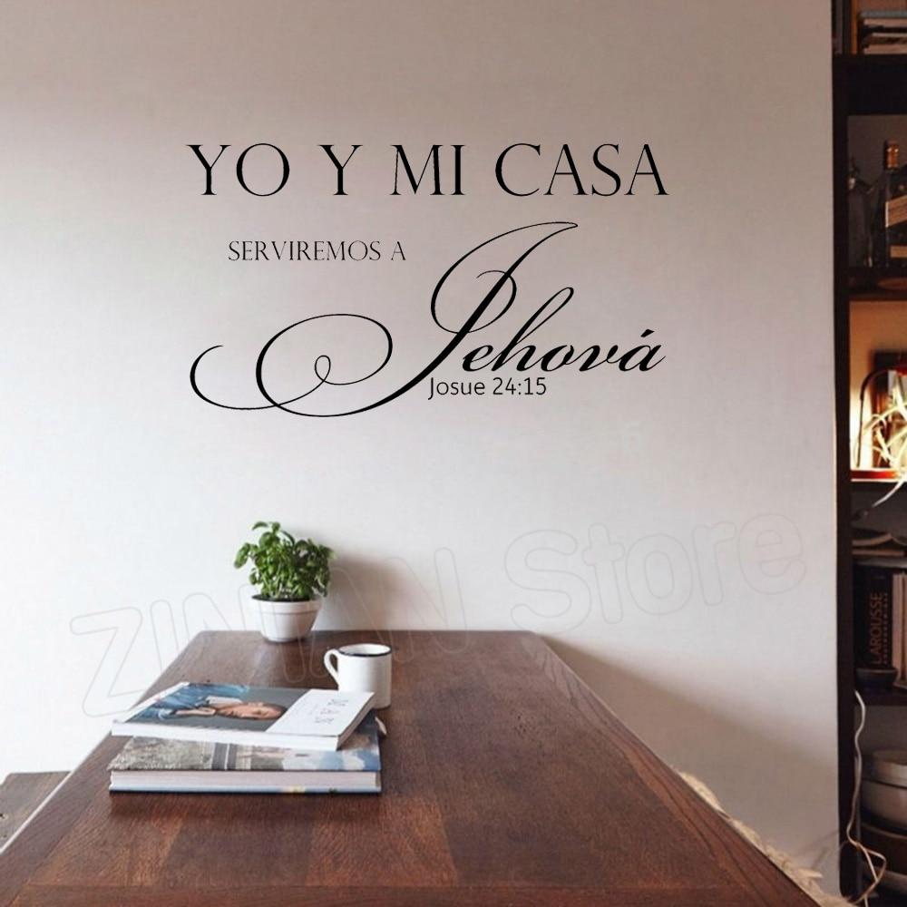 Espanhol YO Y MI casa Adesivos de Parede de Vinil Cita Adesivos De Parede Esculpida Carta Papel De Parede Home Decor Sala de estar Cozinha Quarto d055
