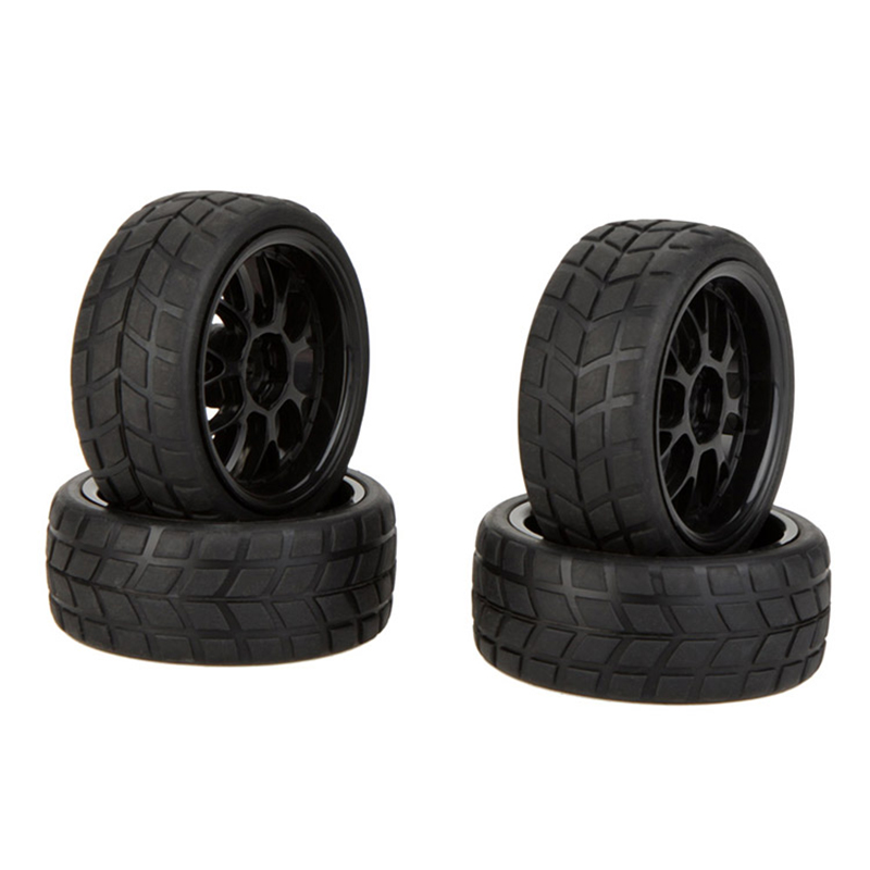 4pcs High Performance 1/10 Rally Car Rim Wheels and Tires 20101 for Traxxas HSP Tamiya HPI Kyosho RC Car