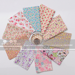 Image 3 - Random Thin Cotton Fabric Patchwork For Sewing Scrapbooking Fat Quarters Tissue Quilt Pattern Needlework Scraps 80pcs 20x24cm