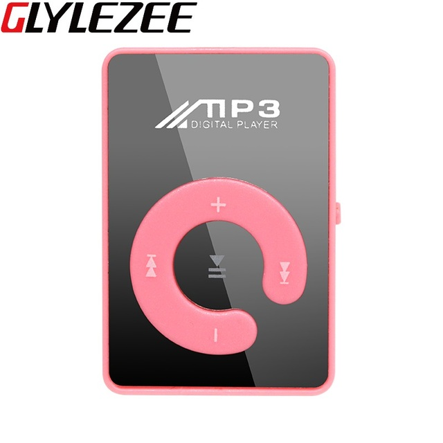 Mini Mirror No Screen MP3 Clip Plugin Card Smart Music Player Portable Sports Leisure Perfect Sound MP3 Player Memory Play