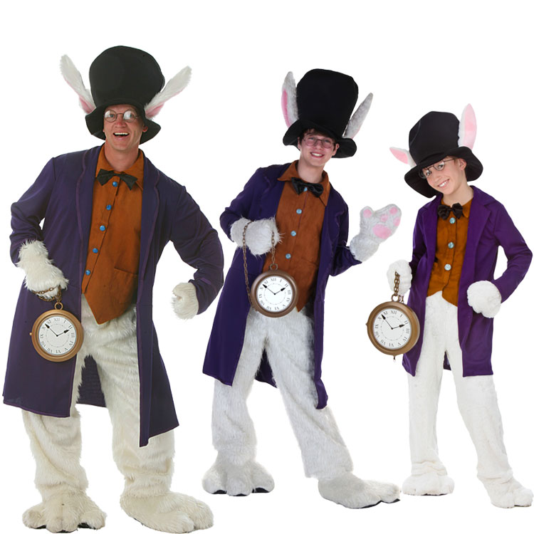 "Irek Hot cosplay Halloween costume masquerade performing clothing ""Alice in Wonderland "" clock rabbit costumes adult children"