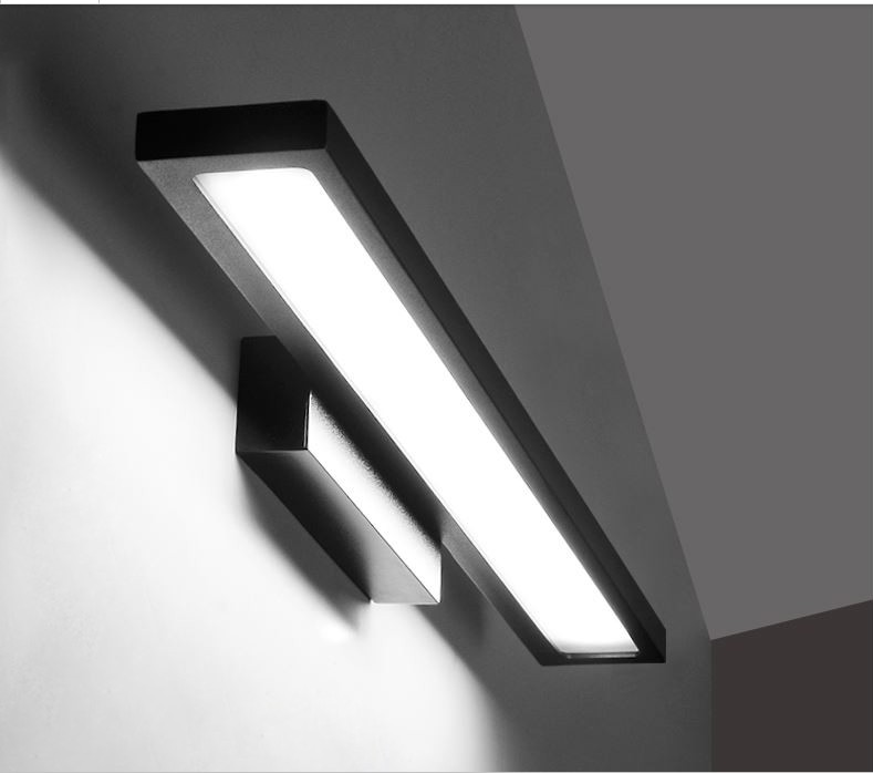 ФОТО Bathroom Led Mirror Front Light LED Stainless Steel Wall Mounted Make-up Bathroom Lights AC220V Modern Wall Lamps