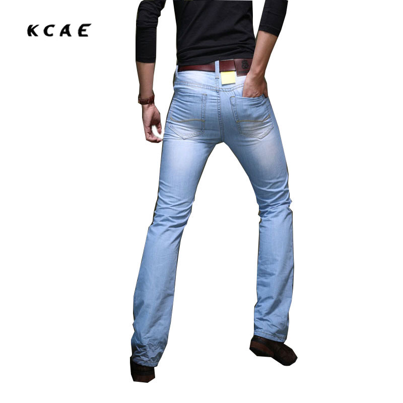 Spring and Autumn new High-Quality male micro-horn jeans Korean version of the Wave of Light-colored jeans Men's jeans 34 36 38 the quality of accreditation standards for distance learning