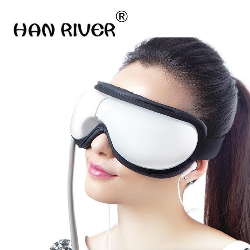 Hot sales mp3.6 eye massager, eliminate pouch, eye magnetic far-infrared heating. Eye health care massage glasses eye mask hot air pressure eye massager with mp3 6 functions dispel eye bags eye magnetic far infrared heating eye care