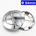 4 Unids 64mm ABS Cromado Llanta de Coche Insignia del Emblema del Centro de Rueda Hub Caps Cubierta para Chrysler Pacifica Sebring 300 Logo Envío Gratuito