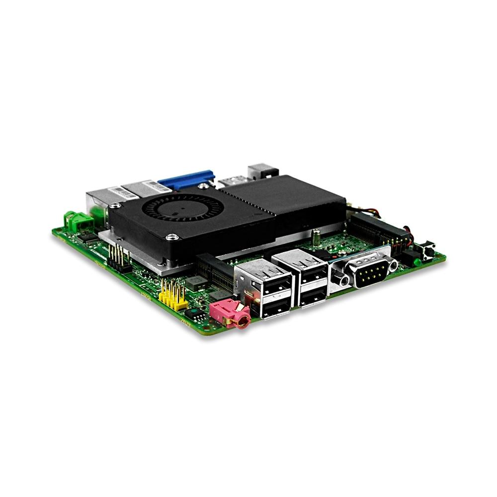 Fanless wintel 1037u dual core processor mini itx motherboard for industrial pc Free shipping