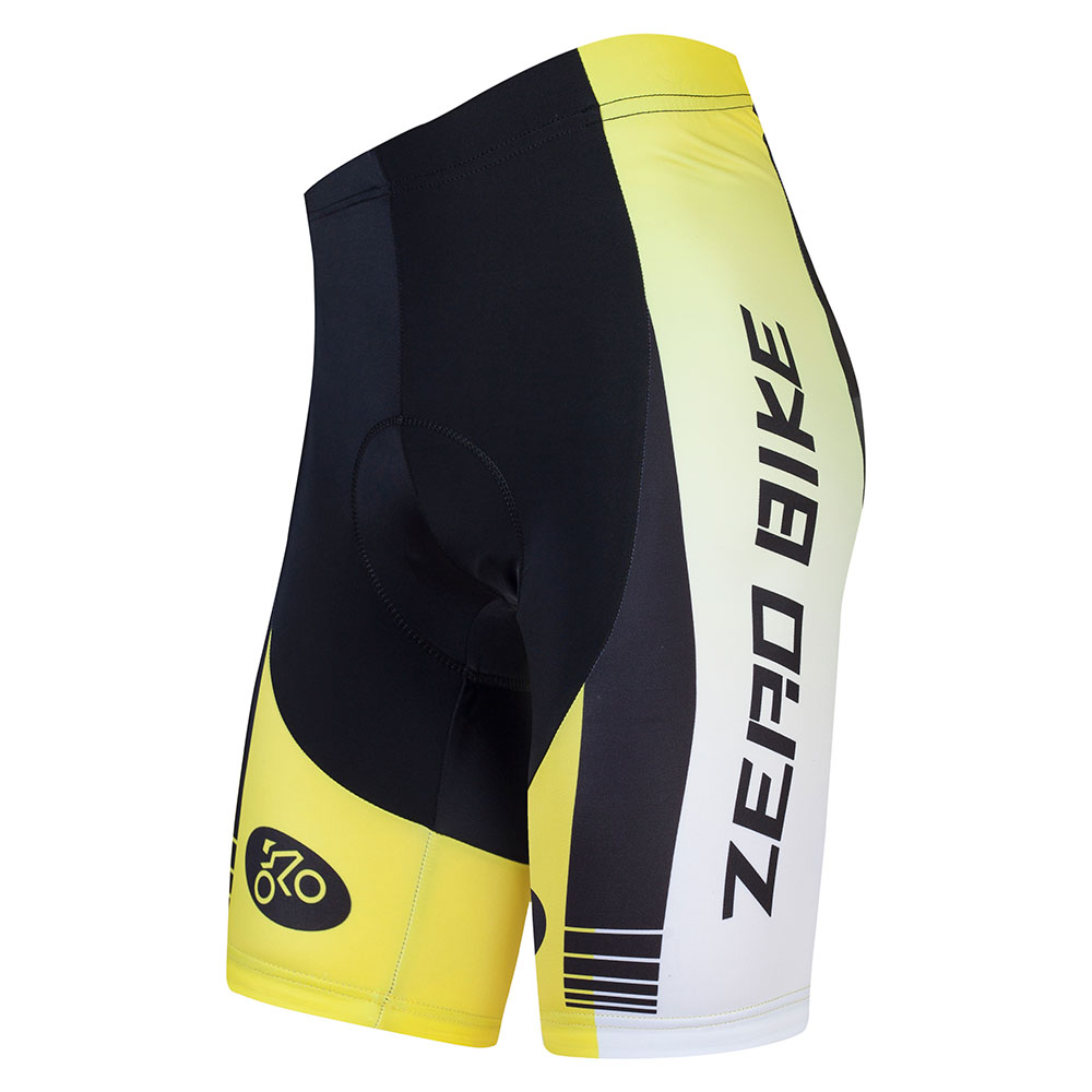 ZERO BIKE High Elasticity Quick Dry Cycling Shorts Outdoor Sports 4D GEL Padded Cycling Clothing Bermuda Ciclismo Yellow Hot