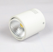 Free Shipping 15W Super Bright COB Surface Mounted led down light 85-265V ceiling spot