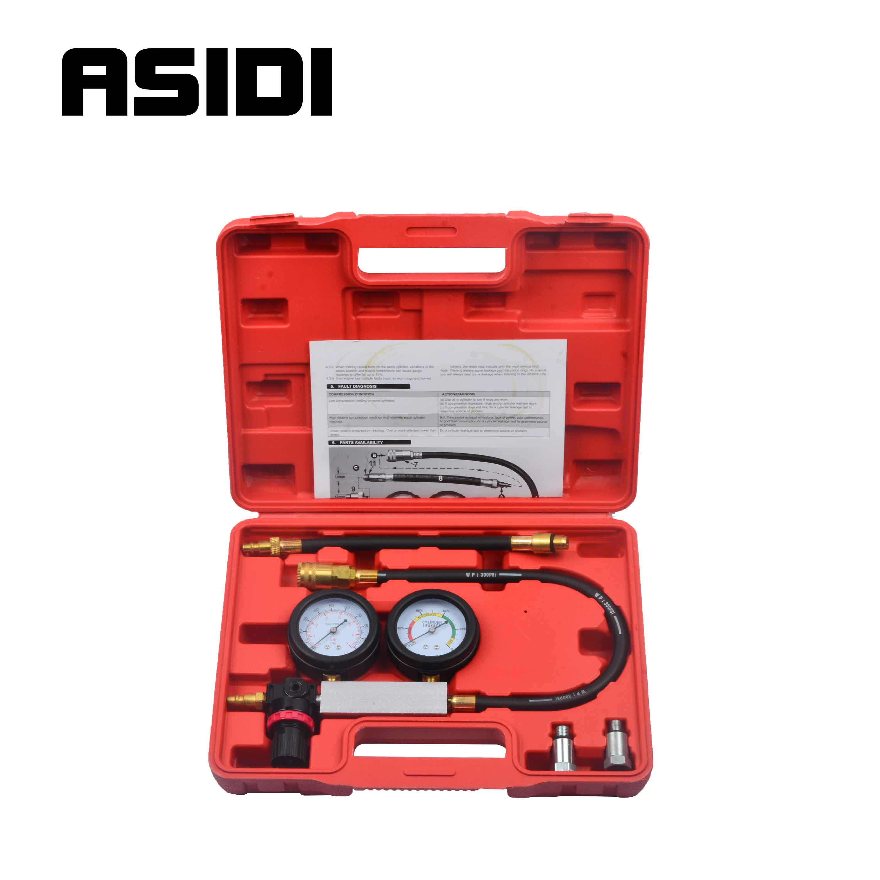 Cylinder Leak Down Tester Compression Tester With Case Test More Accurately