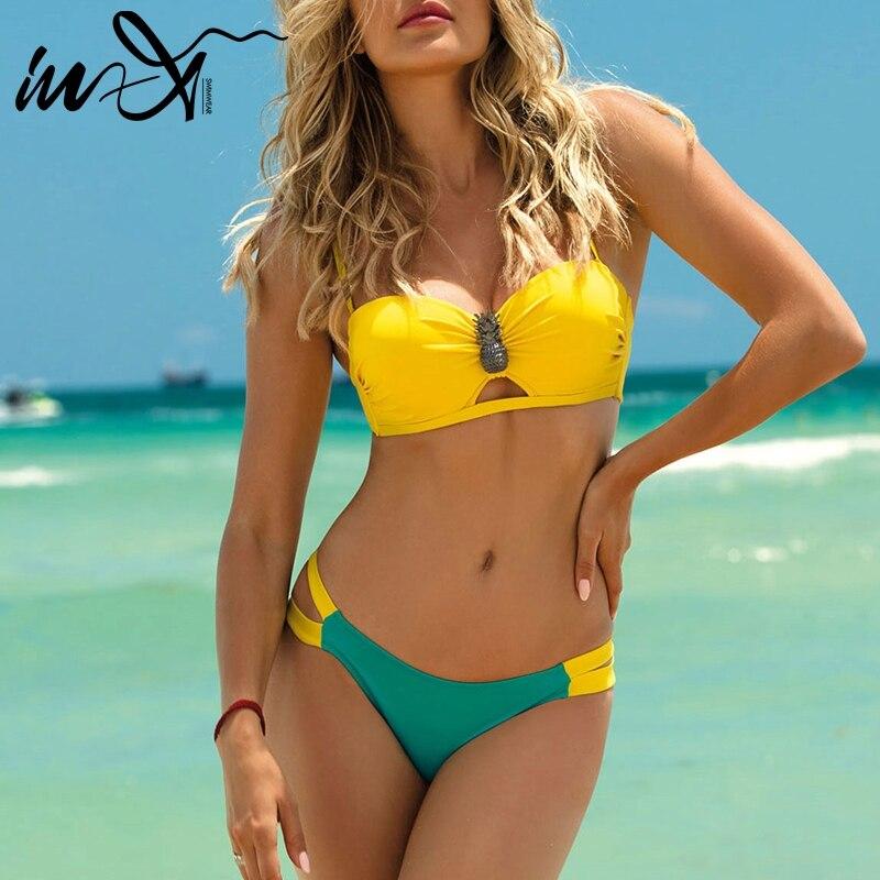 143b947928e6 En-X Plus tamaño traje de baño mujeres sexy bikini 2019 a micro traje de  baño mujer bañistas venda traje de baño de playa traje de dos piezas