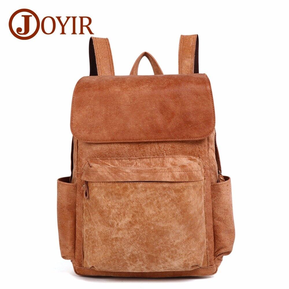 JOYIR Men Backpack Genuine Leather Vintage Backpack Daypack Travel Casual School Book Bags Brand Male Laptop Bags Rucksack New