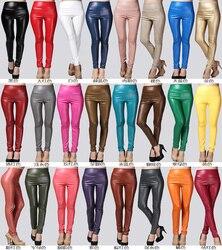 2019 Autumn winter Women legging skinny PU leather pencil Leggings slim faux Leather Pants female fashion thick fleece trousers 2