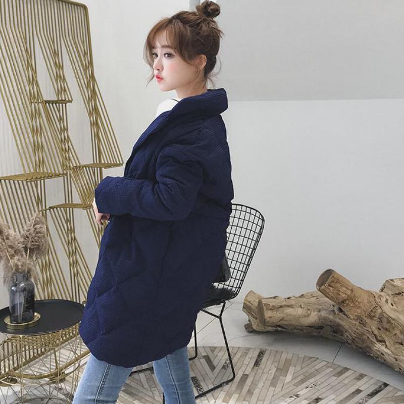Section Pain Col Noir De 2018 Service Doudoune Femme La Nouveau Épais D'hiver Coréenne Lâche Maternité Longue marine Version Bleu Costume xZZn8qR4