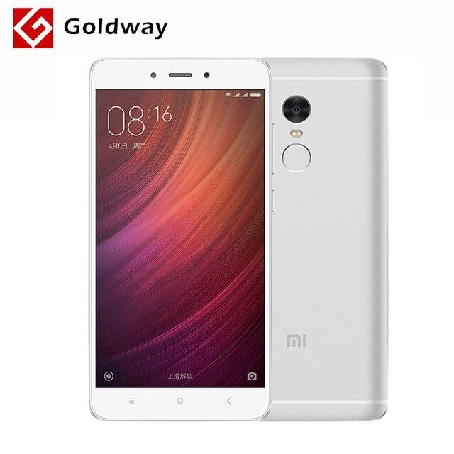 """Оригинальный Xiaomi Redmi Note 4 3 ГБ оперативной памяти 32 ГБ ROM мобильный телефон MTK helio X20 Дека Core 5.5"""" FHD 4100 мАч 13MP камеры отпечатков пальцев ID"""