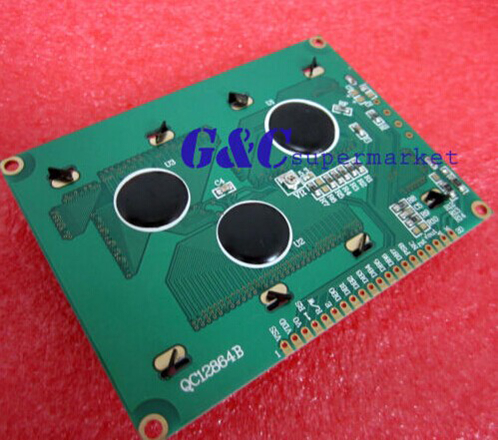 St7920 128x64 Graphic Lcd Blue Backlight For Easypic5 High Quality Copper Clad Boards 10x15cm 100x150x12mm Circuit Pcb Qc12864b In Integrated Circuits From Electronic Components Supplies On