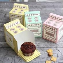 Caja de regalo impresa en horno Vintage, caja de cupcakes individual, caja de papel para magdalenas caja de favor de fiesta W8844