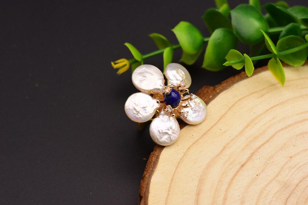 pérola flor anel para festa de casamento