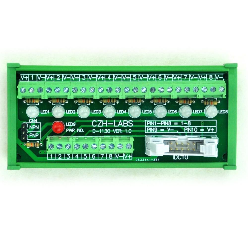 Din Rail Mount 30a 300v 20 Position Screw Terminal Block Fuse Holder Box 8 Channel Sensor Signal Distribution Module