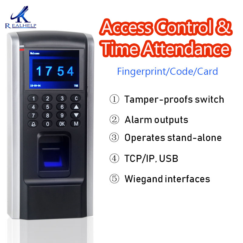 1800Capacity Biometric Fingerprint Access Control Technology with Smart Card reader Staff Time and Attendance 125KHZ DC12V network access control staff attendance management system