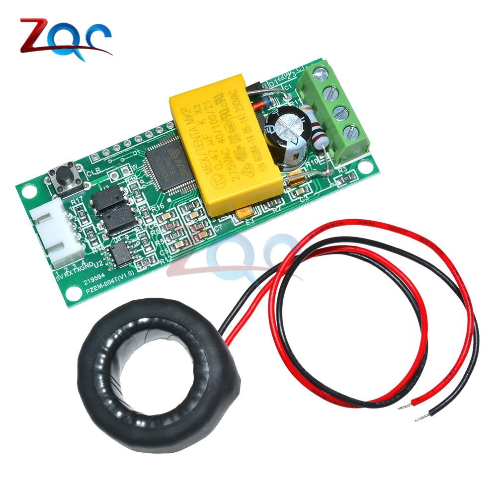 AC Numérique Multifonction Meter Watt Volt Amp TTL Test Actuel Module PZEM-004T Avec Bobine 0-100A 80-260 V AC Pour Arduino