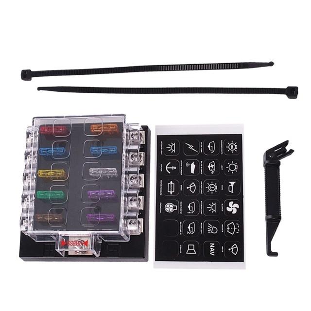 new fuse box holder terminal bar kit 10 way blade car ato atc van rh aliexpress com Mini Fuse Kit Mini Fuse Kit