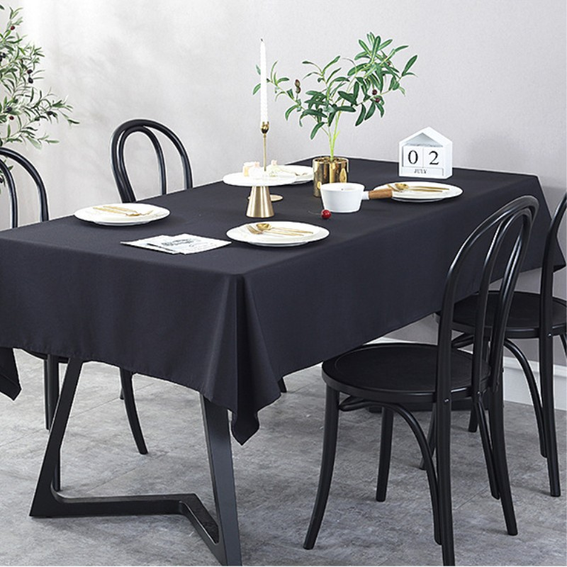 All Kinds Of  Cotton Polyester Solid Color Waterproof Tablecloth Wholesale Direct Sales Tablecloth Wedding Party Decoration
