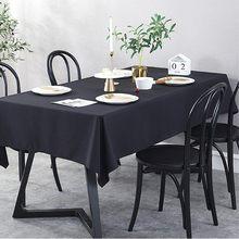 Algodão cor sólida à prova dwaterproof água toalha de mesa atacado vendas diretas mesa de café cobre festa de casamento decorationtoalhas