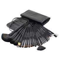 Ship From UK 32pcs Makeup Brushes Professional Kit Black Hand To Make Up Brush Set With