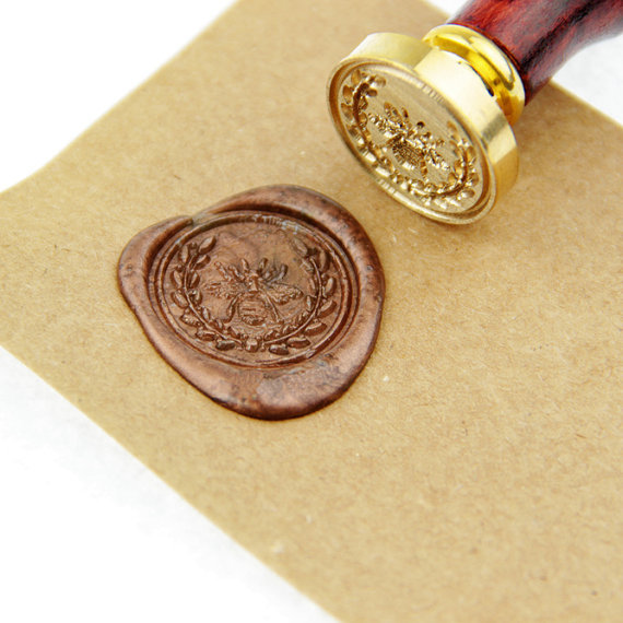 Bee Wreath Wax Seal Stamp Christmas Gift Wedding Seals Invitation Ws139 In Stamps From Home Garden On Aliexpress Alibaba Group