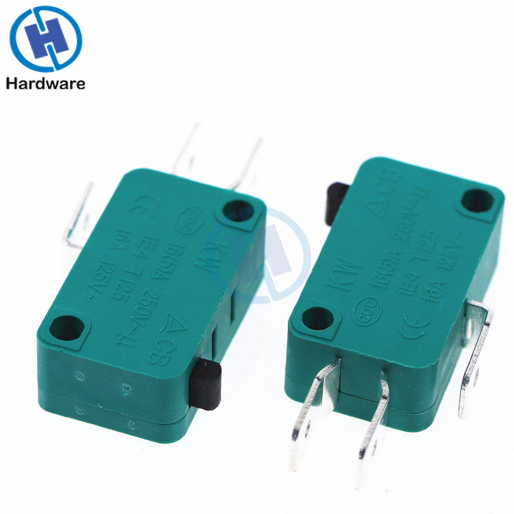 1 Pcs SPDT 3 Terminals Momentary Micro Limit Switch 16A AC125 250V Green kW3 0Z in Switches from Lights Lighting