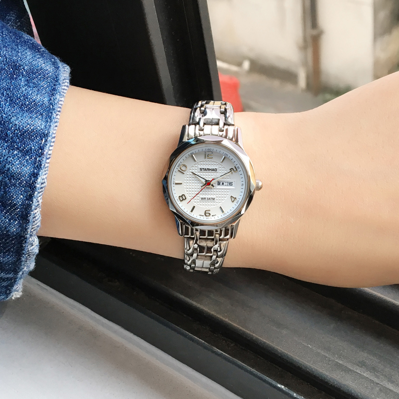 OTS Sapphire Window Stainless Steel Band Womens Watches Top Brand Quartz Watch Women Dress Bracelet Watch Casual Women's Watches
