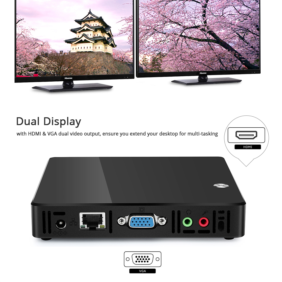 Image 3 - XCY X38 Mini PC Intel Celeron 1007U Pentium 2117U Windows 10 Linux TV BOX WiFi Gigabit Ethernet HDMI VGA 5*USB Nettop HTPC-in Mini PC from Computer & Office