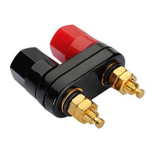 Plug-Jack Connector Terminals Black Banana-Speaker Amplifier Binding-Post Couple Top-Selling