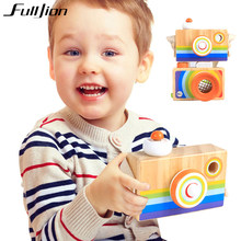 Fulljion Toy Camera Wooden Baby Decoration Hanging Kids Gift Fashion Accessories Mini Educational Toys Popular Oyuncak Funny(China)