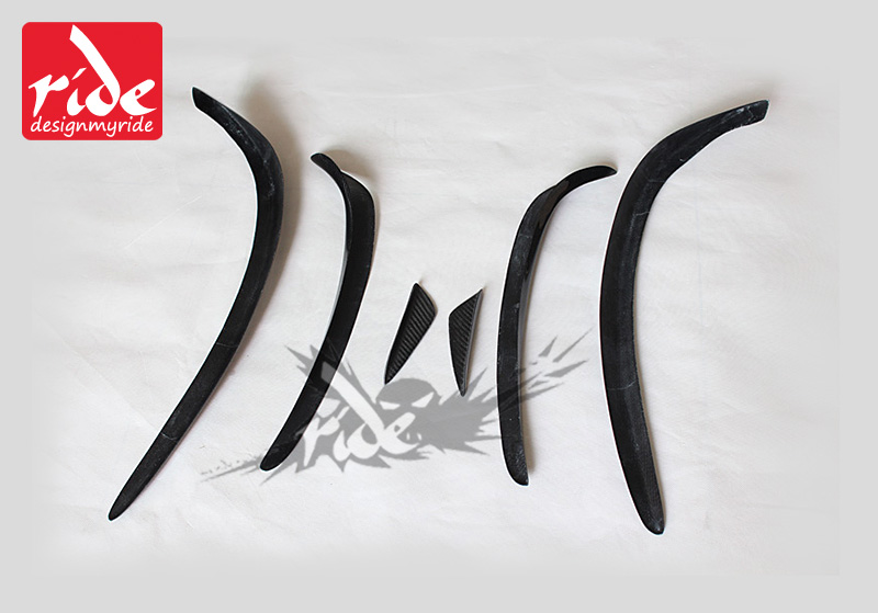 W117 6pcs Gloss carbon fiber front bumper spoiler flap canard splitters for Mercedes Benz W117 CLA200 CLA250 CLA45AMG 2013 2016 in Bumpers from Automobiles Motorcycles