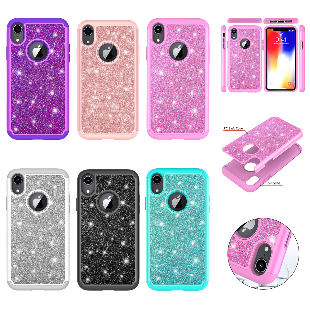DAXING Glitter Phone Case For iPhone XR Cases For iPhone
