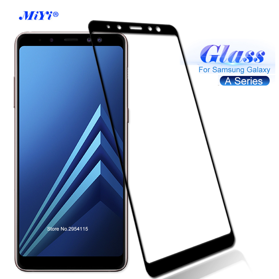 For Samsung Galaxy A8 2018 Case Screen Protector Tempered Glass For Samsung Galaxy A3 A5 A7 2016 2017 A8 Plus 2018 Cover Film