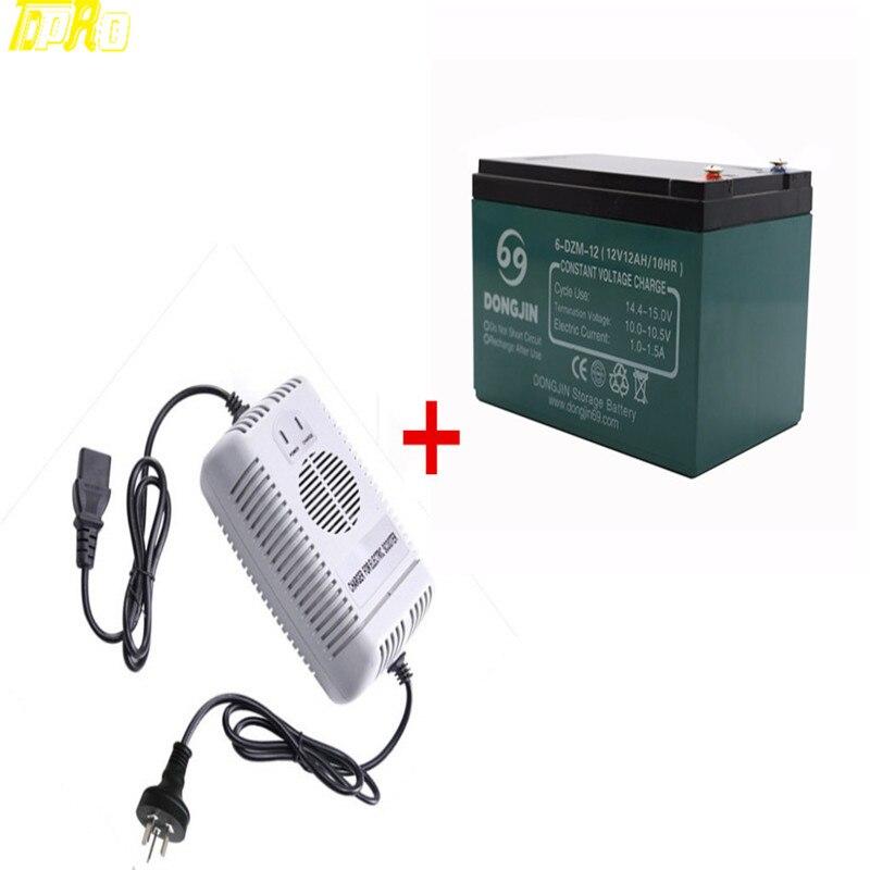 Nouveau 12 V 12Ah 6-DZM-12 batterie de moto + 48 V 2.5A chargeur de batterie UPS APC Scooter batterie Rechargeable médicale