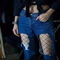 2017 Oco out sexy meia-calça feminina Malha preta mulheres meias calças justas stocking meias arrastão fino clube festa 1805